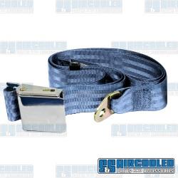 Seat Belt, 2 Point Lap Belt w/Chrome Lift Latch, Blue