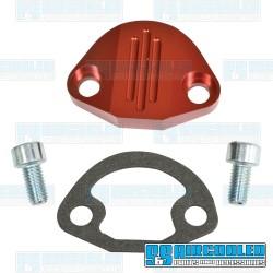 Fuel Pump Block Off, Aluminum, Red