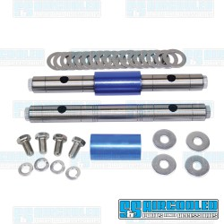 Rocker Shaft Kit, Solid Shaft w/Floating Spacer, Includes Shims