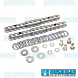 Rocker Shaft Kit, Solid Shaft w/Fixed Spacer, Includes Shims, EMPI