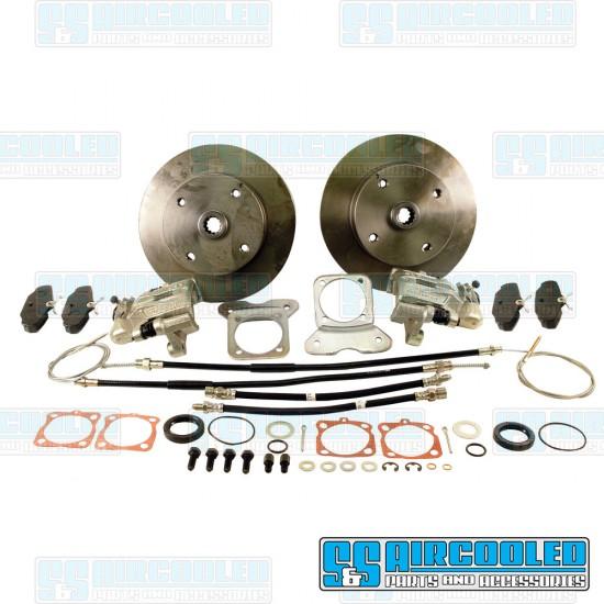 EMPI Disc Brake Kit, Rear, 4x130mm, e-Brake, Stamped Brackets