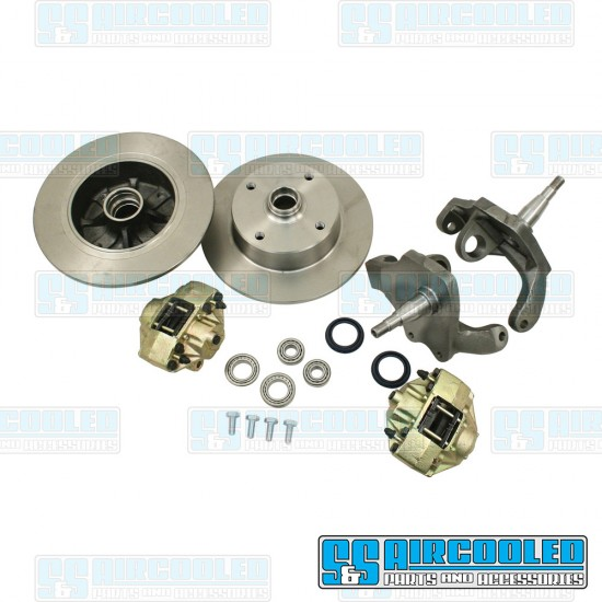 EMPI Disc Brake Kit, Front, Blank (No Pattern), Drop Spindle