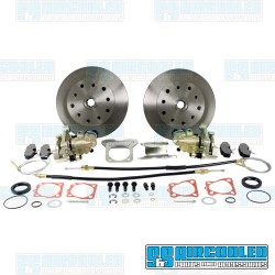 Disc Brake Kit, Rear, 5x130mm/5x4.75in, e-Brake, Cast Brackets
