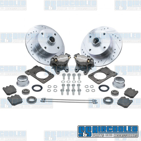EMPI Disc Brake Kit, Front, 4x130mm, Wilwood Calipers, Bolt-On