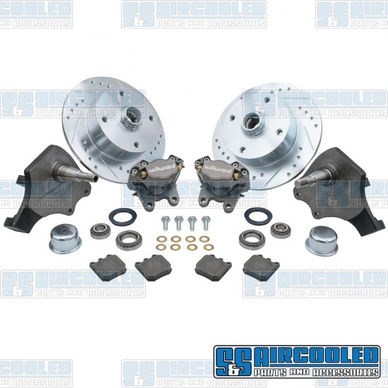 EMPI Disc Brake Kit, Front, 4x130mm, Wilwood Calipers, Drop Spindle