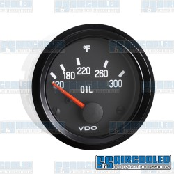 Oil Temperature Gauge, 120-300°F, 2-1/16 in, Electrical, Cockpit Series