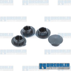 Door Hinge Pin Oil Plugs, Upper & Lower, Left & Right, Black