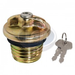 Gas Cap, Locking, Threaded, Metal