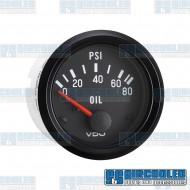 Oil Pressure Gauge, 0-80psi, 2-1/16in, Electrical, Cockpit Series