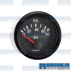 Oil Pressure Gauge, 0-80psi, 2-1/16in, Electrical, Cockpit Series
