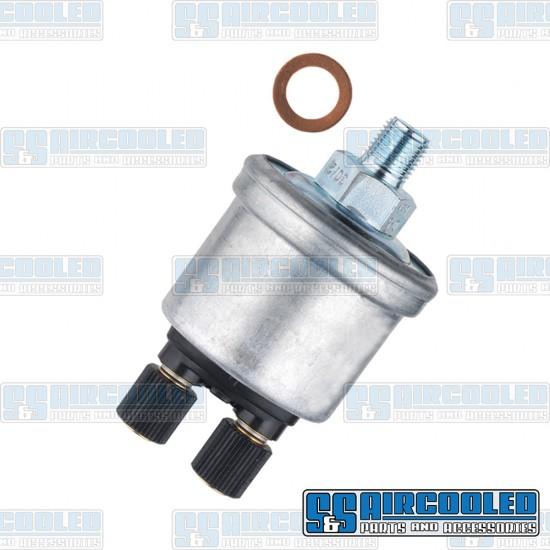 VDO Oil Pressure Sending Unit, 0-80psi, 1/8-27 NPT, w/Warning Light Option