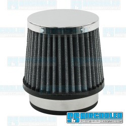Air Filter Assembly, Kadron/Brosol/Solex/40K, Round, Gauze, Chrome