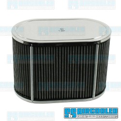Air Filter Assembly, IDF/DRLA/HPMX, Oval, Gauze, Chrome