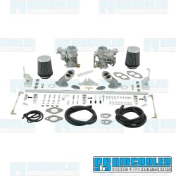 Carburetor Kit, 34mm ICT, Dual, Hexbar Style Linkage w/Air Cleaners