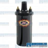 Ignition Coil, 12 Volt, 45Kv Output, .6 ohm, Epoxy Filled, Black