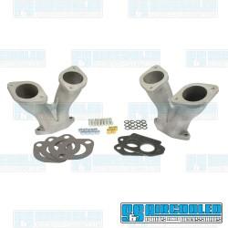 Intake Manifold Kit, 48-51mm IDA/EPC, Dual Port, Straight, Short