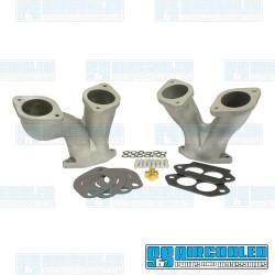 Intake Manifold Kit, 48-51mm IDA/EPC, Dual Port, Offset, Short