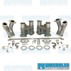 Carburetor Kit, 48mm EPC, Dual, Round Bar Style Linkage
