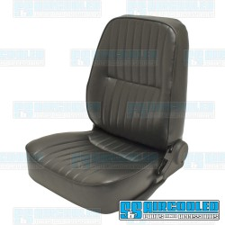 Reclining Bucket Seat, Low-Back w/o Headrest, Left, Black Vinyl, Race Trim