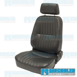 Reclining Bucket Seat, Low-Back w/Headrest, Left, Black Vinyl, Race Trim