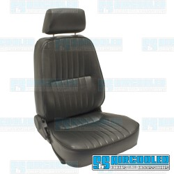 Reclining Bucket Seat, Low-Back w/Headrest, Right, Black Vinyl, Race Trim