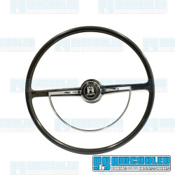 Steering Wheel, 15-3/4in Diameter, Stock Style, Black