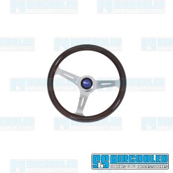 Steering Wheel, 380mm Diameter, 31mm Grip, Dark Classic Wood w/Adapter
