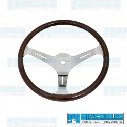 Steering Wheel, 380mm Diameter, 31mm Grip, Dark Classic Wood