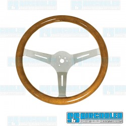 Steering Wheel, 380mm Diameter, 23mm Grip, Light Classic Wood