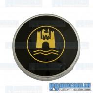 Horn Button, Banjo Style, Black/Gold