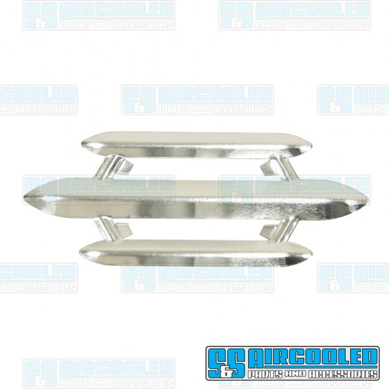 Horn Grill, 3-Bar Style, Left or Right, Aluminum