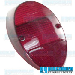 Tail Light Lens, Red/Red, US Style, Left or Right