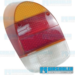 Tail Light Lens, Amber/Red/White, Euro Style, Left or Right