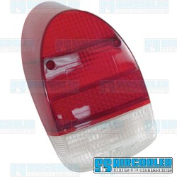 Tail Light Lens, Red/Red/White, US Style, Left or Right