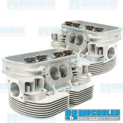 Cylinder Heads, 40x35.5mm, 90.5/92mm, Dual Springs, CNC Stage-1 Wedge-Port