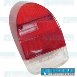 Tail Light Lens, Red/Red/White, US Style, Left