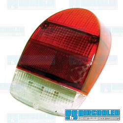Tail Light Lens, Red/Red/White, US Style, Right