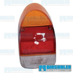 Tail Light Lens, Amber/Red/White, Euro Style, Left