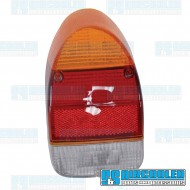Tail Light Lens, Amber/Red/White, Euro Style, Right