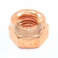 Nut, Exhaust Lock Nut, Copper, German