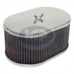 Air Cleaner Assembly, Fits 40/44/48 IDF, 3.75in Tall, Paper, Chrome
