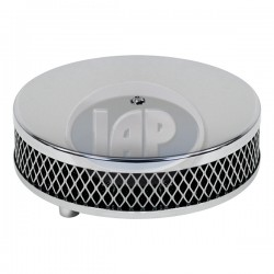 Air Filter Assembly, Stock/ICT/EPC, Round, Low Profile, Foam, Chrome