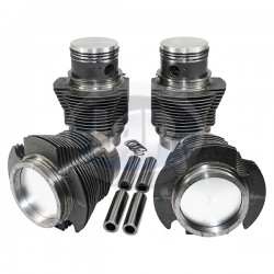 Piston & Cylinder Set, 77 x 64mm, Cast, 40hp