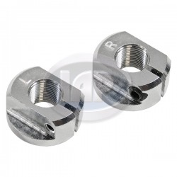 Spindle Nuts, Link Pin, Aluminum, Left and Right