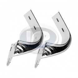 Deck Lid Hinge Bracket, Left & Right, Chrome