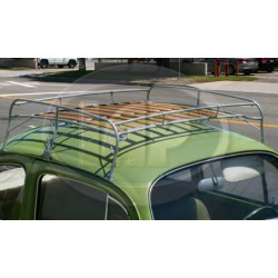 Roof Rack, Knock Down Style, Silver with Wood Slats