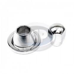 Nut & Spacer, Alternator or Generator Pulley, Chrome