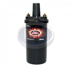Ignition Coil, 12 Volt, 45K Volt, .6 ohm, Flame-Thrower II, Black, Epoxy Filled