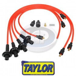 Spark Plug Wires, 8mm Spiral Core, Orange, Silicone