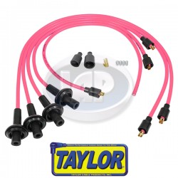 Spark Plug Wires, 8mm Spiral Core, Pink, Silicone